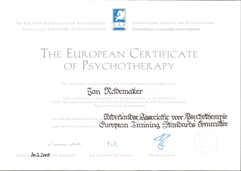 ECP certificaat voor de nederlandse academie